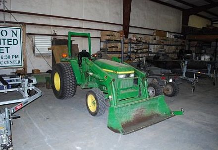 John Deere tractor with front end loader