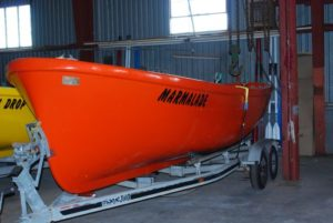 Lifeboats converted for rowboat competition